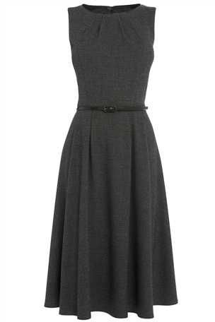 Buy Black And White Textured Dress from the Next UK online shop £40