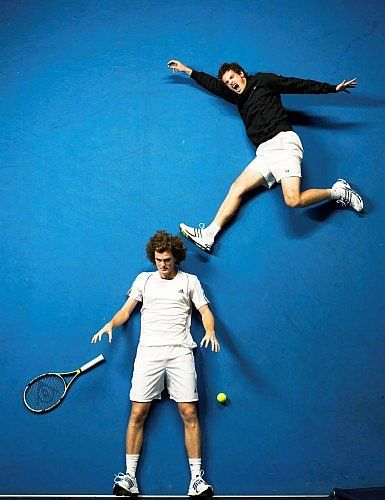 Jamie Murray, b.1986, and Andy Murray, b. 1987, Tennis Players, Murdo MacLeod, 2008	− © Murdo Macleod
