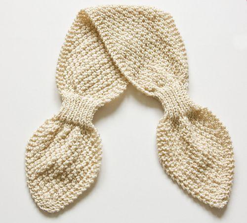 Double Moss Stitch Scarflette pattern by Sarah Cooke ...