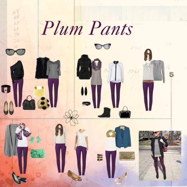 """Plum Pants"" by virgojen on Polyvore"