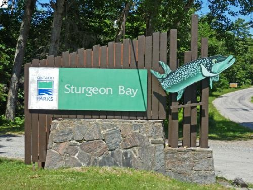 Camping at Sturgeon Bay Provincial Park near Parry Sound - Ontario