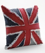 union jack, british pop, pillow, decorating, design, modern patchwork, sewing, red, white, blue