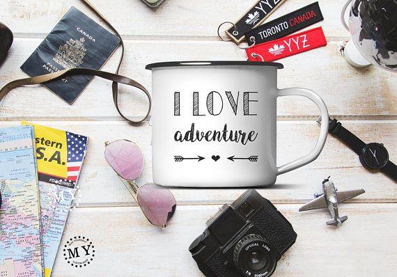Adventure ENAMEL MUG Custom Camping Lover Gift Mug