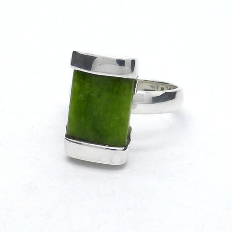 TSAVORITE GARNET GREEN RING