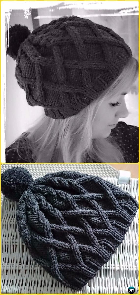 a3f6ae17f23 Knit Black Roxy Hat Free Pattern - Knit Beanie Hat Free Patterns