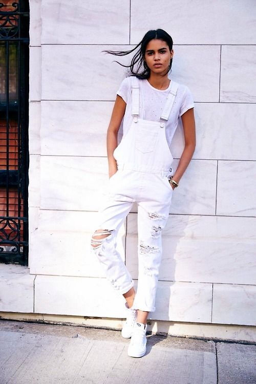 white denim overalls - hate ripped stuff though!