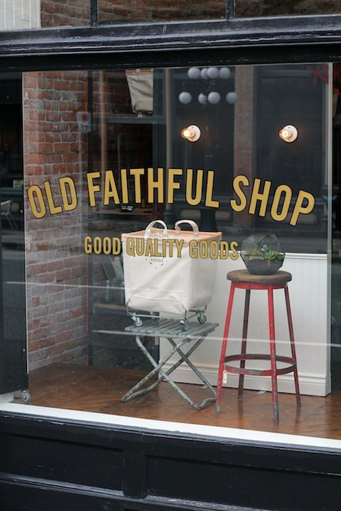 If I just happened to walk by this, I would most likely fall and hit my face.  Beautiful.       Old Faithful Shop - Blog - Hand-LetteredSignage