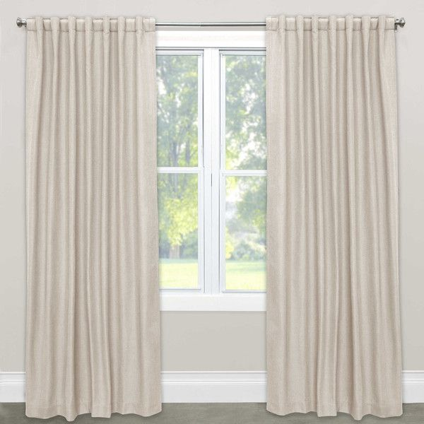 Skyline Furniture Solid Rod Pocket Room Darkening Curtain Panel ($211) ❤  Liked On Polyvore Featuring Home, Home Decor, Window Treatments, Curtains,  Rod ...