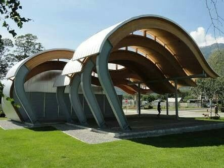 Wave form inspired pavilion