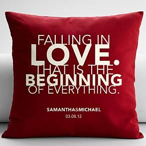 love quote pillow cover + insert - red 18x18 from RedEnvelope.com