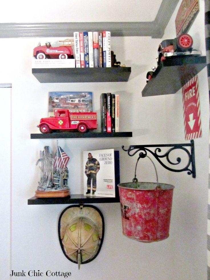Firefighter bedroom decor