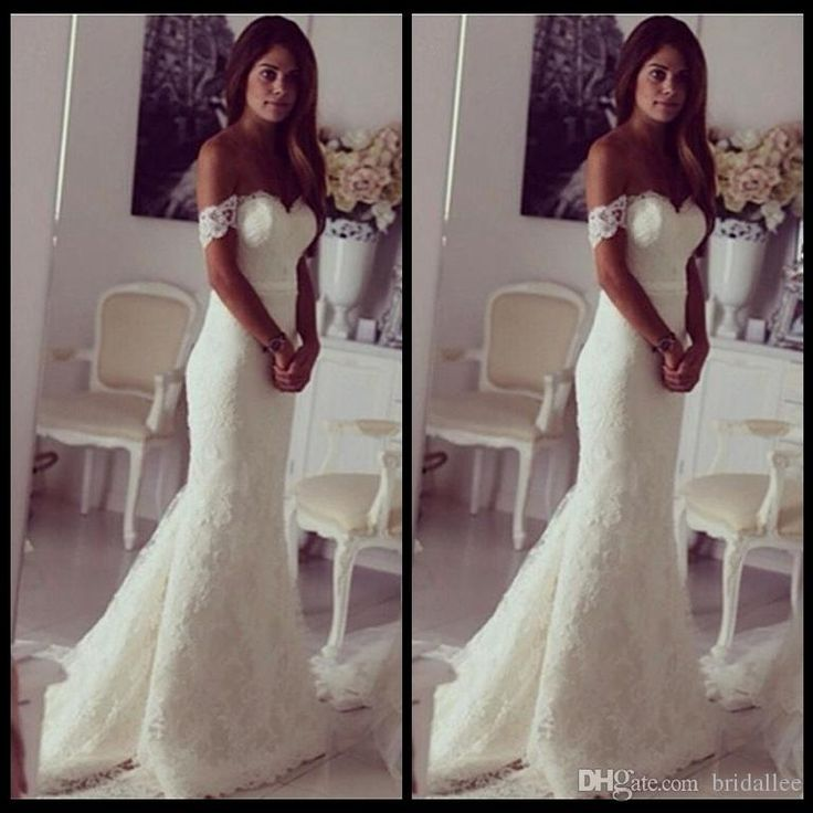 Best Selling Mermaid Lace Vintage Wedding Dresses 2017 Off Shoulder Elegant Bridal Gowns Custom Made Bodycon Cheap Trumpet Wedding Gowns