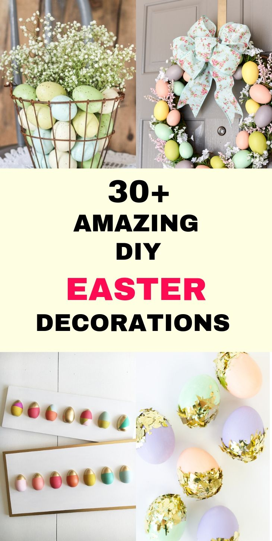 31 Beautiful Diy Easter Home Decoration Ideas Diy Easter Decorations Easter Diy Mason Jar Diy
