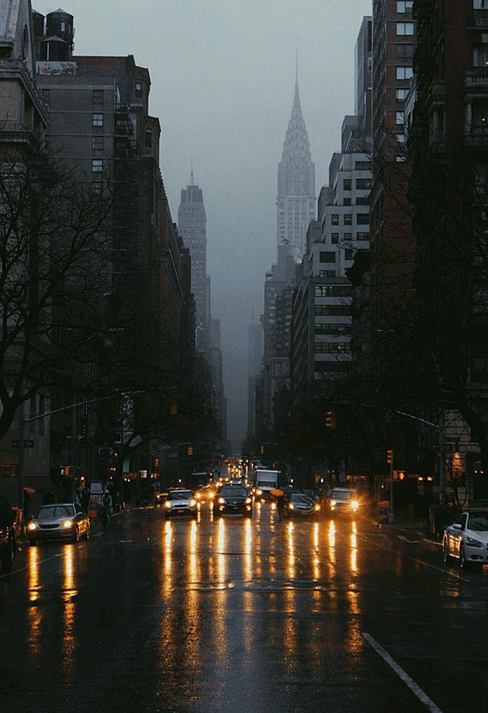 NYC. Dark, ominous atmosphere over Manhattan