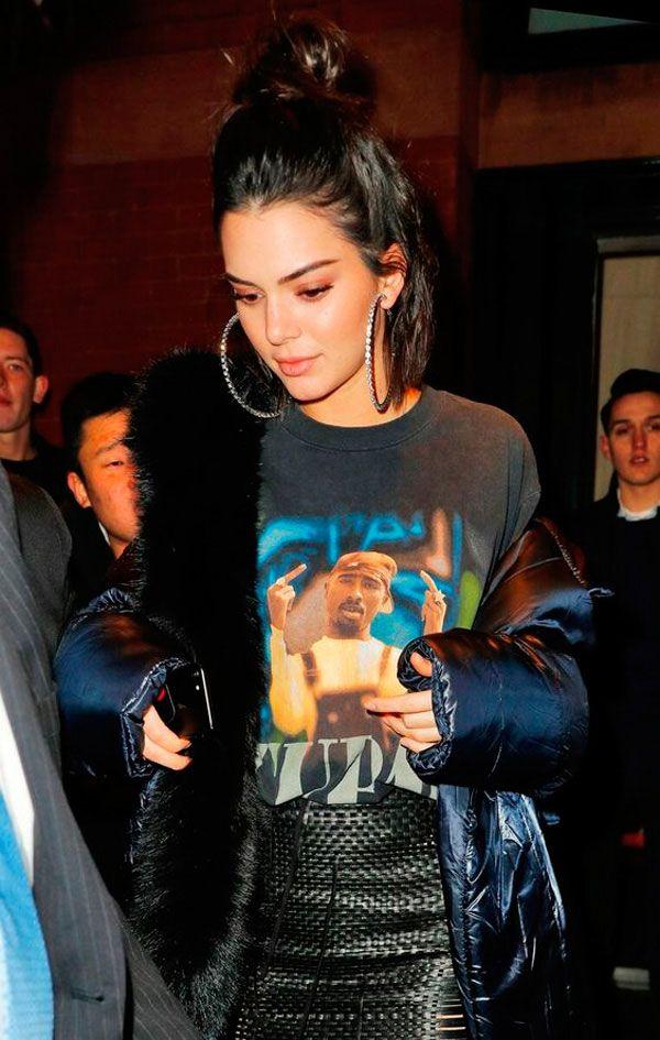 Brincos de argola Kendall Jenner
