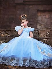 Fantasias+de+Cosplay+Princesa+/+Cinderella+/+Conto+de+Fadas+Cosplay+de+Filmes+Azul+Cor+Única+Vestido+Dia+Das+Bruxas+/+Natal+/+Ano+Novo+–+BRL+R$+571,12