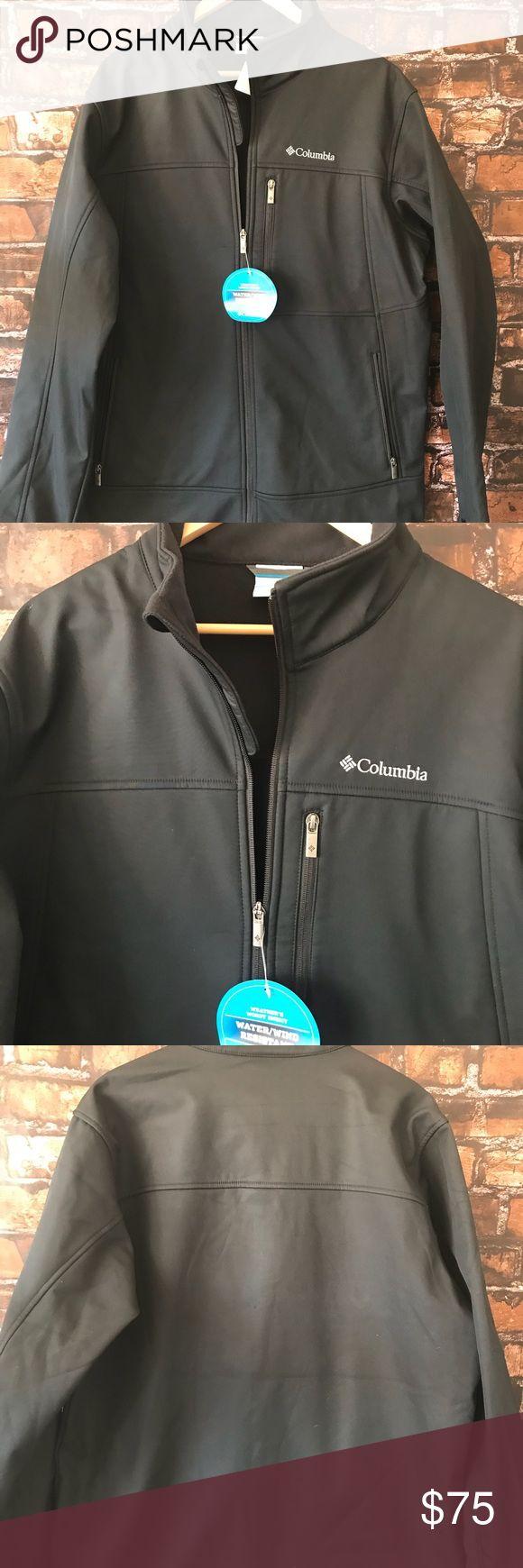 🆕 Columbia Big & Tall Men's Jacket! COLUMBIA Men's Jacket Coat SOFTSHELL Big And Tall Large LT Water Wind Resistant Columbia Jackets & Coats Performance Jackets