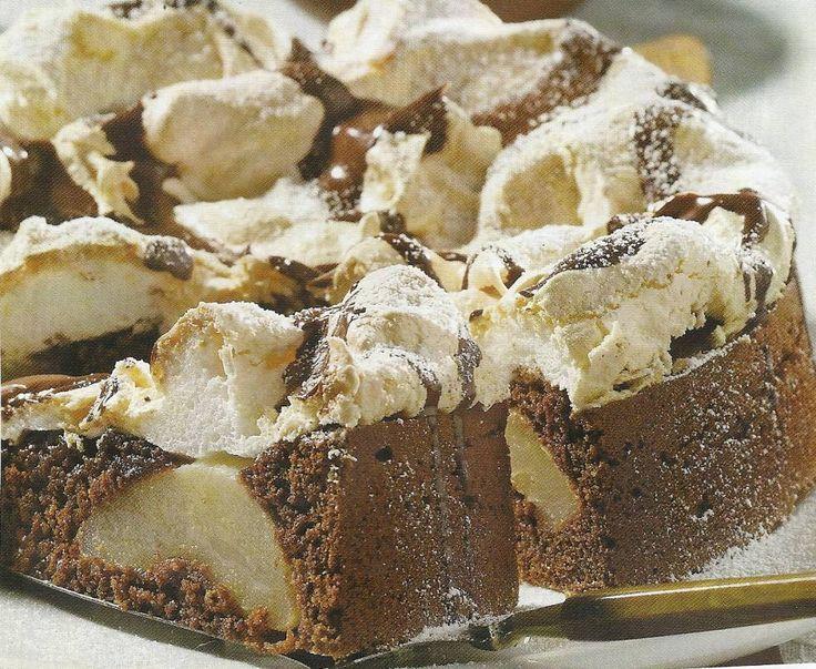 Chocolade-perentaart Met Schuim recept | Smulweb.nl