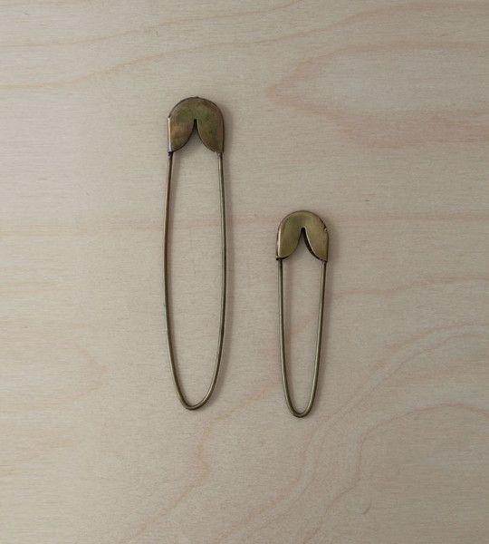 Fog Linen Brass Safety Pin