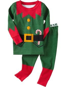 Spencer's Xmas jammies  Elf Costume PJ Sets for Baby | Old Navy