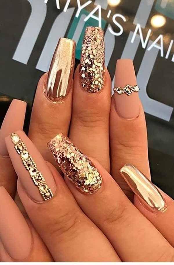Skipping Nail Art Design With Glitter Rhinestones Means Slacking