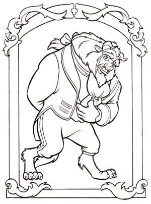 28 best Beauty and the Beast coloring book images on Pinterest ...