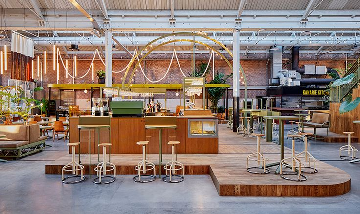 studio modijefsky transforms tram-depot into kanarie club in amsterdam