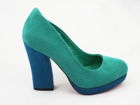 Pantofi dama verzi, eleganti, imitatie piele intoarsa, cu  toc inalt la pretul de 79 RON. Comanda Pantofi dama verzi, eleganti, imitatie piele intoarsa, cu  toc inalt de la Biashoes!