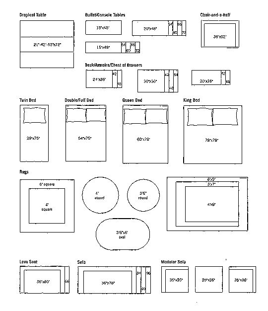 Room Measurement Template: Pattern For Building Quarter Scale Miniature Dollhouse