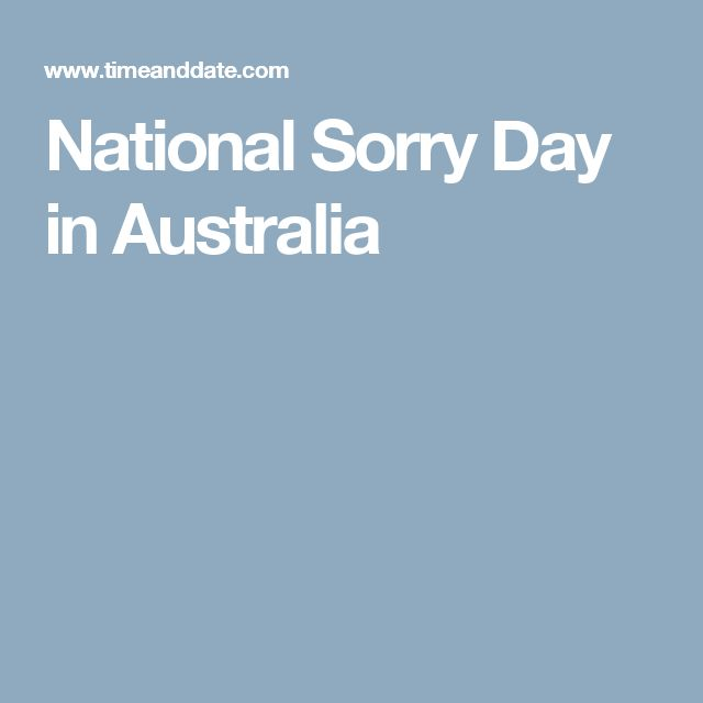 National Sorry Day in Australia