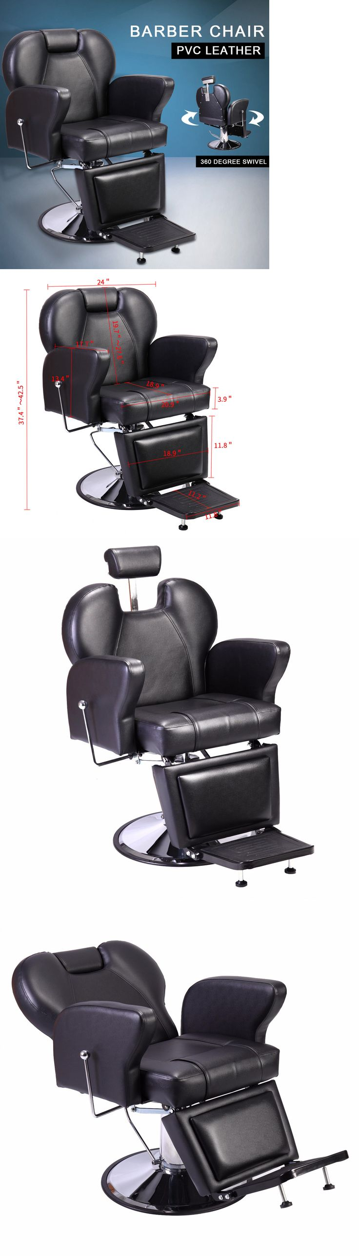 Stylist Stations And Furniture: Recline Contemporary Beauty Salon Hydraulic  Barber Swivel Chair Equipment Swivel