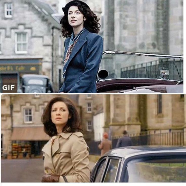 Claire in 1945 and Claire in 1968 Back in Scotland
