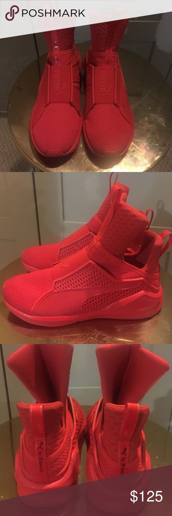 quality design 8e216 1a6cb red fenty puma slippers