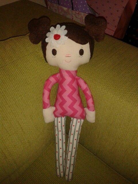 Coté  fabric doll. Muñeca tela