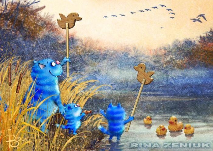 Сообщество иллюстраторов | Иллюстрация Рина З. - Они летят!... 2D, Другое. Растровая (цифровая) графика