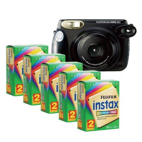 Fujifilm INSTAX 210 Instant Photo Camera Kit with 5 Twin Pack of INSTAX Film - http://allgoodies.net/fujifilm-instax-210-instant-photo-camera-kit-with-5-twin-pack-of-instax-film/