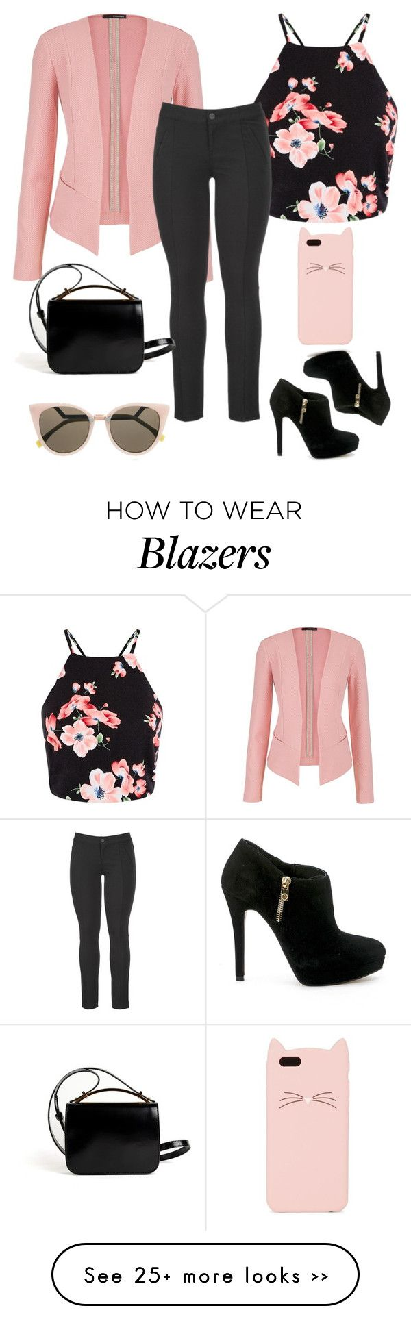 """Peachy Black"" by chanlee-luv on Polyvore featuring maurices, MICHAEL Michael Kors, Kate Spade, Fendi and Givenchy"