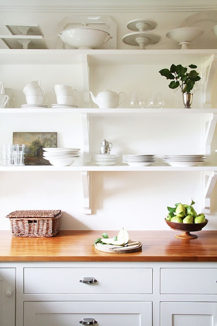 17 best ideas about country kitchen shelves on pinterest for Benjamin moore oxford white kitchen cabinets