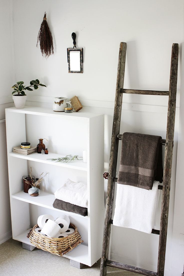 Decorative Bathroom Towel Storage : Best ladder towel racks ideas on