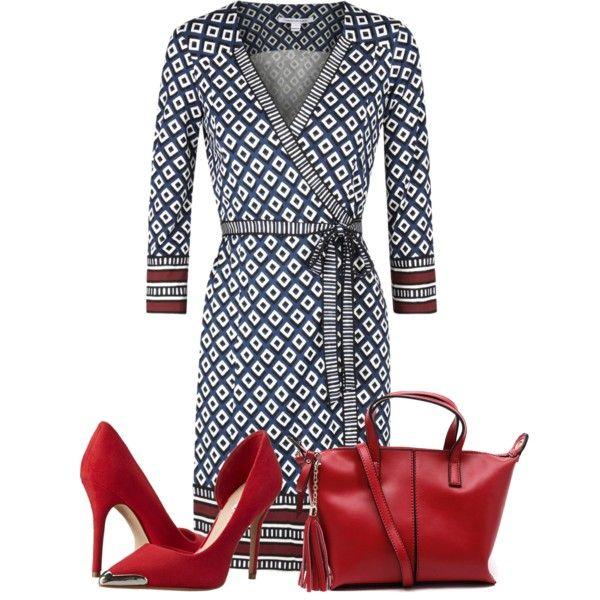 A fashion look from January 2015 featuring Diane Von Furstenberg dresses and GUESS pumps. Browse and shop related looks.