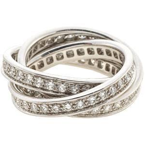 Cartier White Gold & Diamonds Trinity Ring
