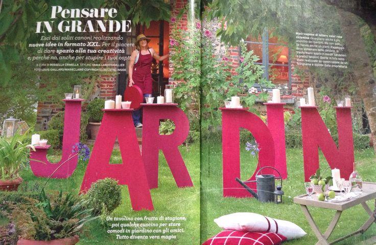 Vania leroy-thuillier verde facile primavera 2015 giardino faidate lettere giganti candele tavolino