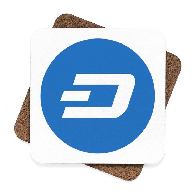 Dash Digital Cash Square Hardboard Coaster Set - 4pcs