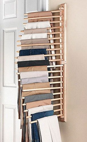 NEW-Wall-Mount-Trouser-Pant-Closet-Organization-Rack-Storage-Home-Decor