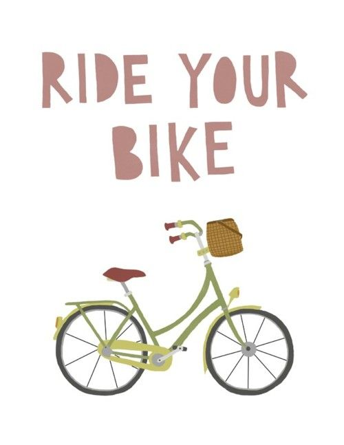 Cute bicycle illustration from poppyandpinecone