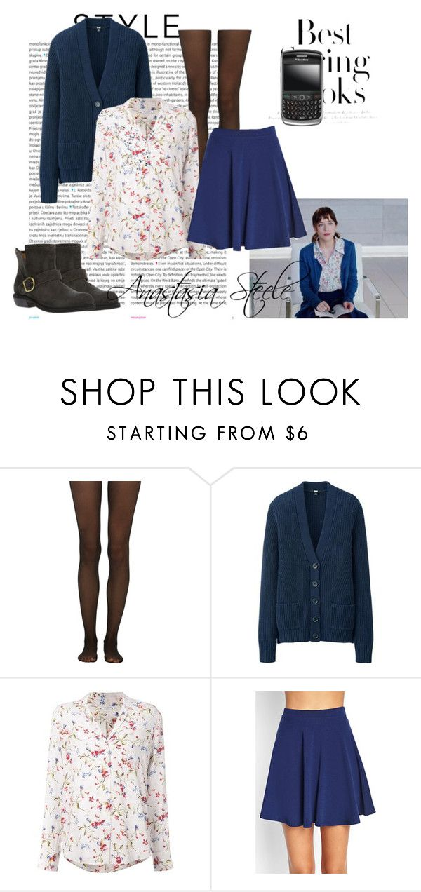 """""""Anastasia Steele"""" by goddly-alpha ❤ liked on Polyvore featuring Oris, Fogal, Uniqlo, Equipment, H&M, Forever 21, Fiorentini + Baker and Nuevo"""