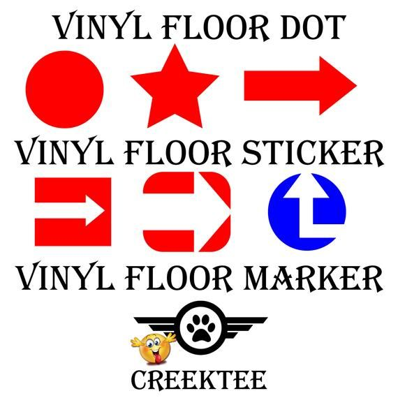 Vinyl Decal Floor Marker Stand Position Consumer Travel Store Direction Wait Spot 4 6 8 10 12 By Creektee