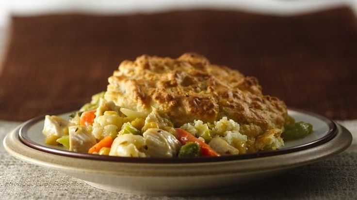 Looking for a baked dinner? Then check out this savory pie made using Green Giant® veggies, chicken, and Original Bisquick® mix.