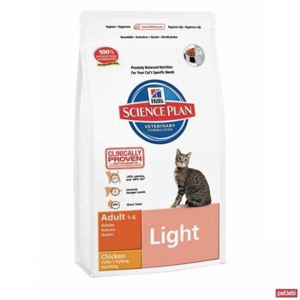 Hill's Adult Light Tavuklu Yetişkin Diyet Kedi Maması 5 Kg