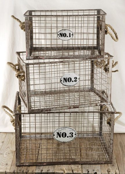 http://www.save-on-crafts.com/wirebaskets.html Great place for wire baskets, burlap, etc.